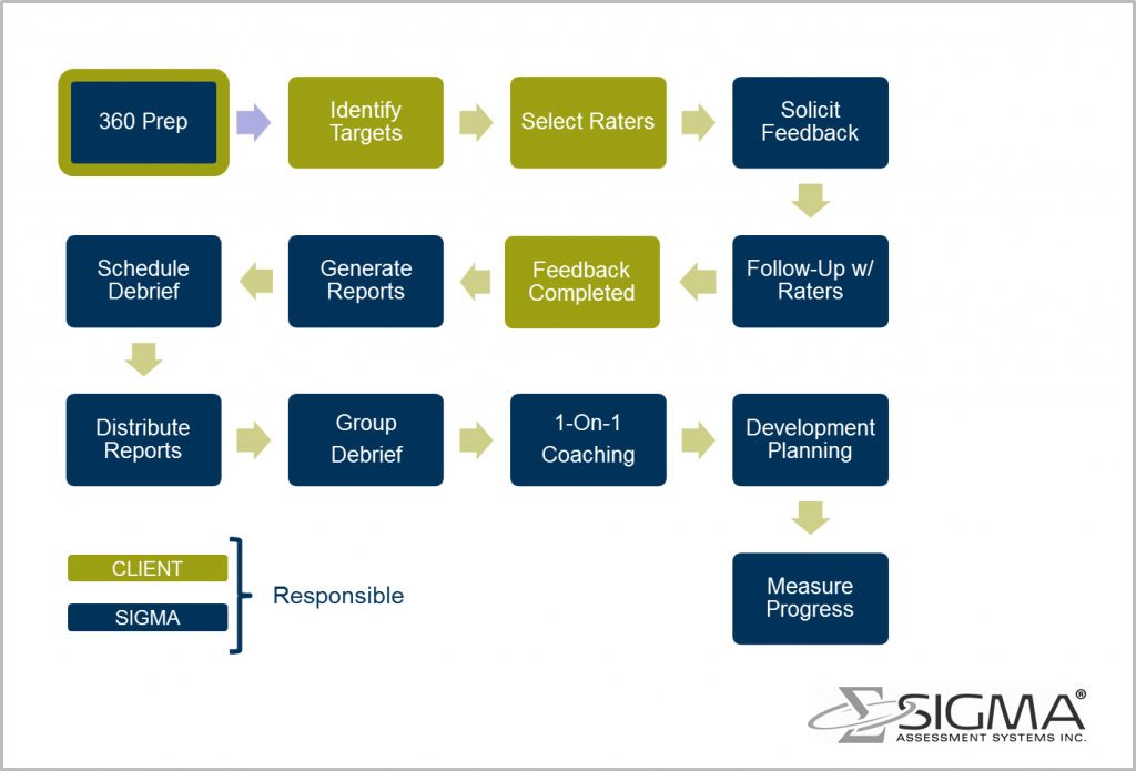 sample 360 feedback process map sigma assessment systems