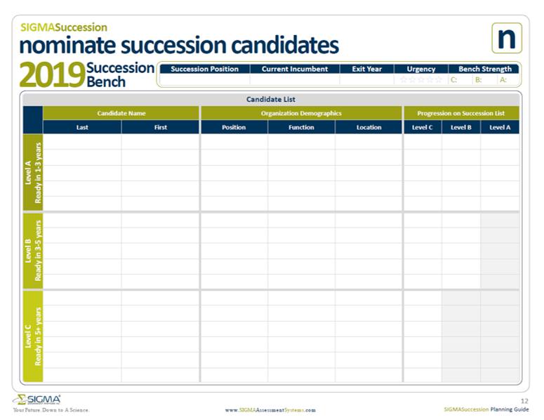 Succession Plan Template   Succession Planning Template Sigma Assessment Systems