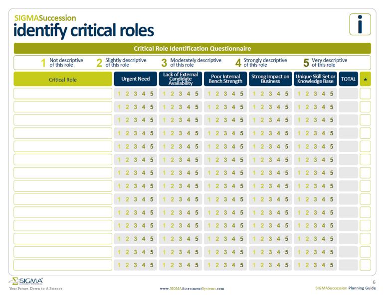 succession planning template role questionnaire