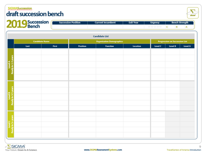 Build the strength of your succession bench with Sigma Assessment Systems Succession Bench Template