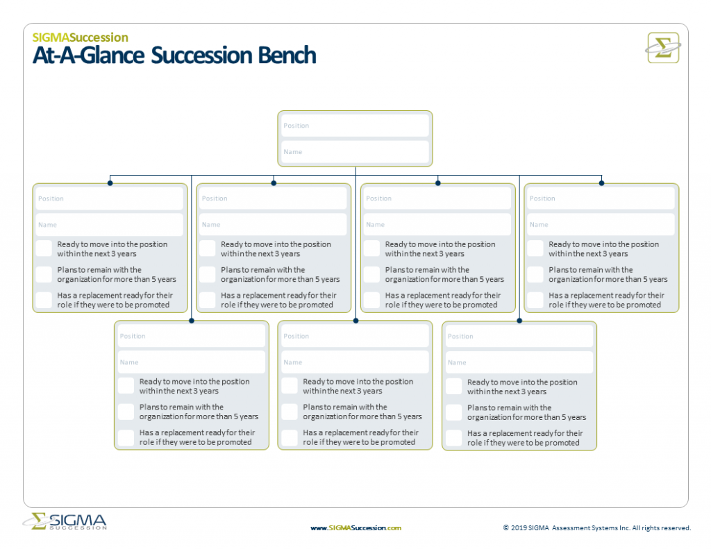 at-a-glance succession bench