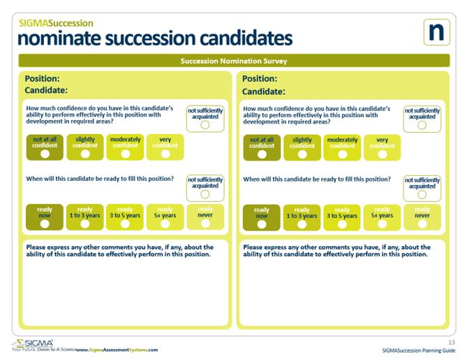 Nominate Succession Candidates